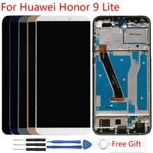Оригинальный дисплей для huawei Honor 9 Lite ЖК-дисплей с каркасом сенсорный экран сборка Honor 9 Lite LLD-L31 ЖК-замена