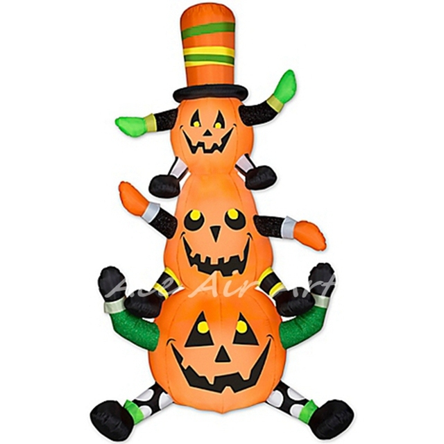 chinese provider outdoor inflatable animated whimsy pumpkin stack with a good price for halloween decorations