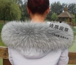 Colorful Genuine Raccoon Fur Detachable Collar Scarfs Fashion Coat Sweater Detachable  Luxury Fur Collar TKC003-GB