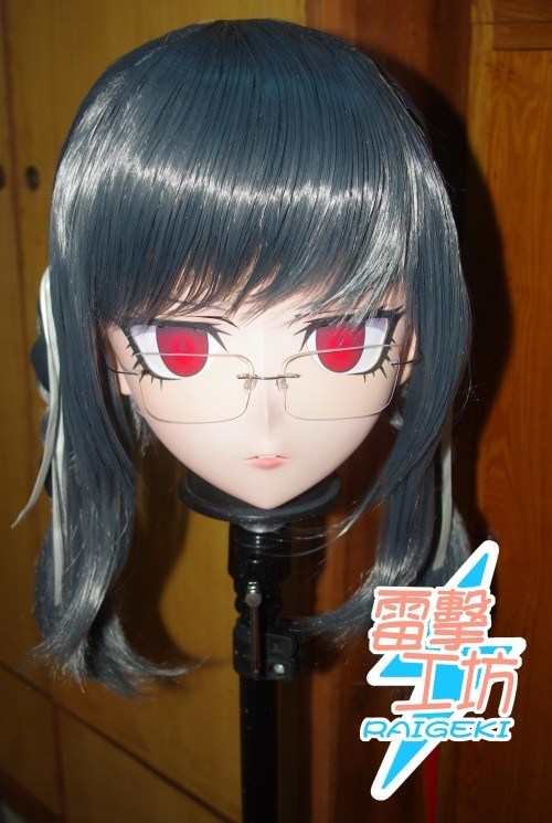 (KM91912)Top Quality Handmade Female Resin Full Face Peko Pekoyama Cosplay Mask Kigurumi Crossdresser Doll