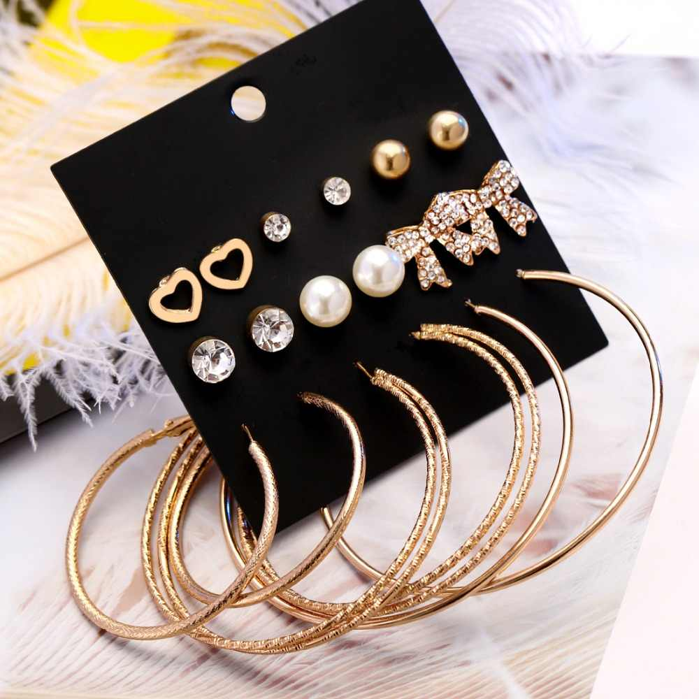 New fashion women accessorize girls birthday party earrings beautiful mix-and-match 10 pairs /set earrings Christmas gift