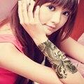 2 pcsHot Preto Peixe Tatuagem Temporária Adesivos Tatuagens Body Art Tattoo Falso Colar No Peito Braço À Prova D' Água bolsa de Ombro Para Os Homens tatuagem