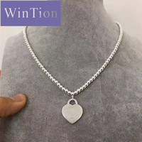 ViTas TIFF s925 Original Charm Sterling Silver Necklace Luxury Eye catching Pendant Necklace Couple Gift Jewelry Free Shipping