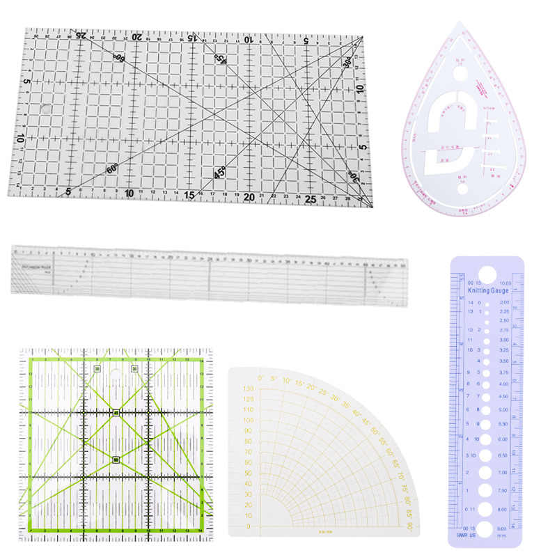 1Pc Patchwork Ruler Quilting Tools Thick Acrylic Fabric Cloth Ruler for Patchwork DIY Sewing Quilting Tools