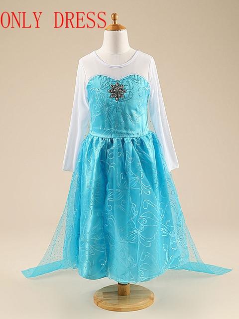 Платье Эльзы для девочек; Новинка; костюмы Снежной Королевы для детей; платья для костюмированной вечеринки; платье принцессы; disfraz carnaval vestido de festa infantil congelados - Цвет: elsa dress D