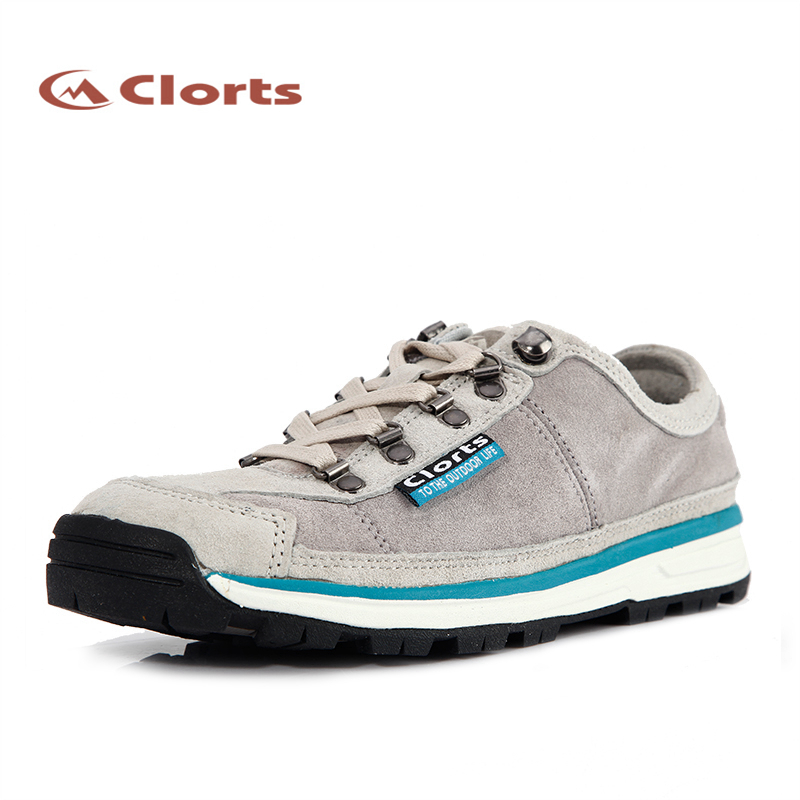 2017 Clorts Womens Walking Shoes Outdoor Lightweight Breathable Sports Shoes Suede Leather For Women Grey Free Shipping 3G020C 2017 clorts mens outdoor walking shoes breathable lightweight sports shoes cow suede for men blue brown free shipping 3g020a d