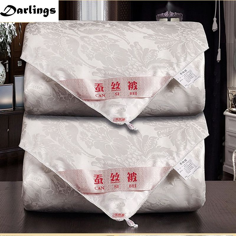 Quality Home Textile Natural 100%Silk Comforters Hand Work Silk Quilts Autumn Winter Gorgeous Silk Blankets Accept Custom-made