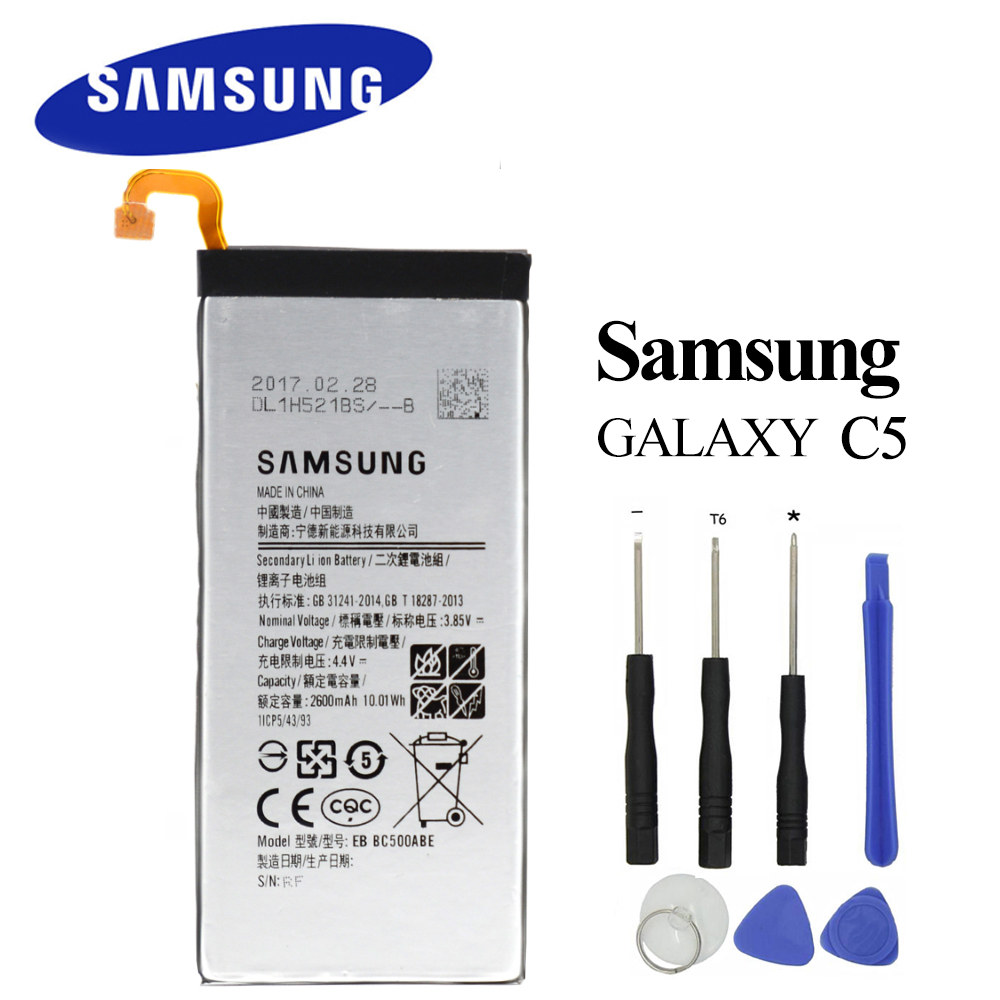 Akku Galaxy Us 16 27 Original Eb Bc500abe For Samsung Galaxy C5 C5000 Battery Sm C5000 Replacement Akku 2600mah Open Tools In Mobile Phone Batteries From