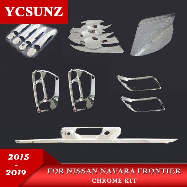 2014-2019 Suitable for Nissan Navara  Np300 Chrome kits Accessories For Nissan Navara Frontier 2016 D23 Decorative Parts Ycsunz
