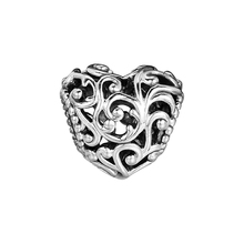 DIY Beads Charms Silver 925 Original Bracelet Sterling-Silver-Jewelry Regal Heart Bead FOR jewelry Berloque Perles
