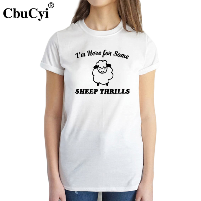 f27d27a83 Sheep Thrills T Shirt Funny Women Tops Tee Shirt Humor Ideas Geek Nerdy  Puns Geekery Cute Animal Tshirt I'm Just here for Some
