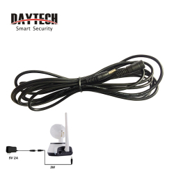 DAYTECH WiFi IP Camera Power Adapter Plug 3 Meter extend extension Cable 5V 2A 3.5MM Power Adapter extend cable