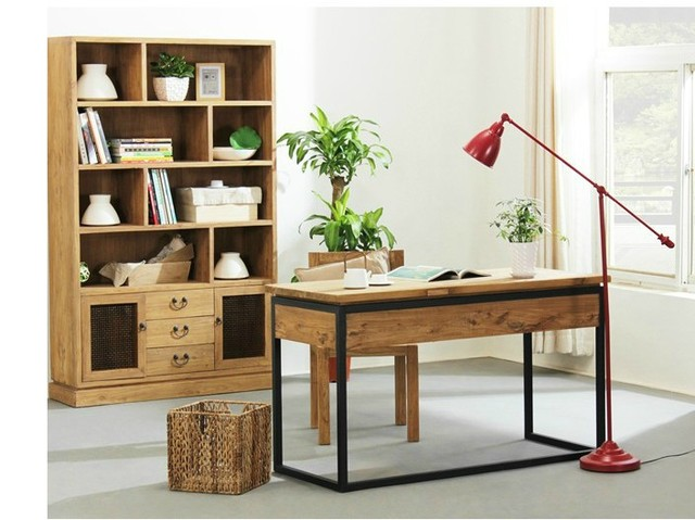 Charmant American Rural Retro Desktop Computer Desk Desk Study Desk Simple Wood  Tables New Chinese Office Furniture
