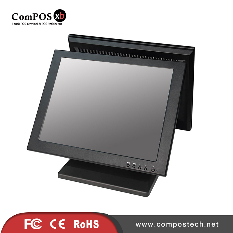 Hot Sale 15 Dual screen Touch Screen Monitor POS System For Cash Register For SupermarketHot Sale 15 Dual screen Touch Screen Monitor POS System For Cash Register For Supermarket