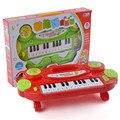 Miúdos dos desenhos animados Piano Eletrônico Órgão Deyboard Brinquedo Educativo
