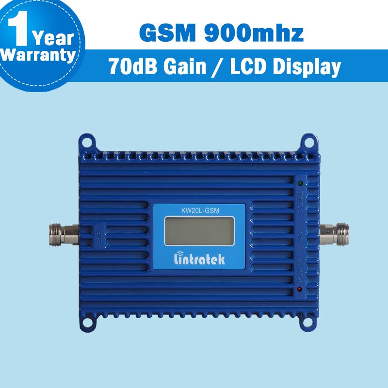 Lintratek LCD Display GSM 2g 900 Handy Signal Booster MGC/ALC 20dBm 2g gsm Repeater Handy booster 70dB Gain mini 05