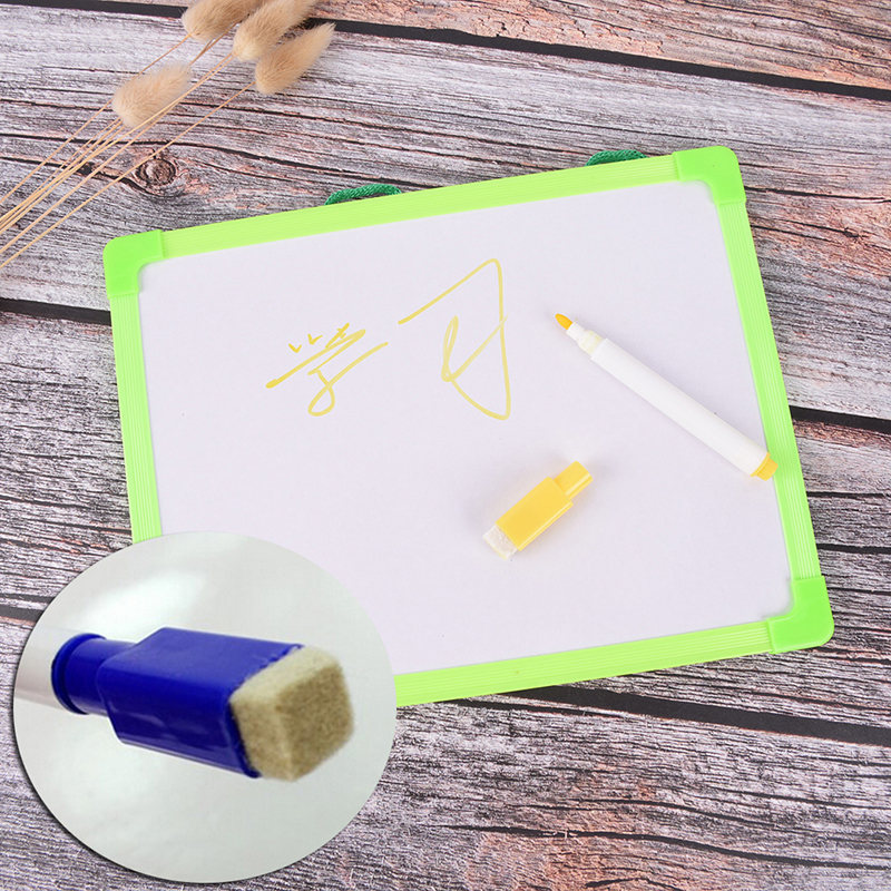 1 Pcs Writing Tablet Kids Whiteboard Dry Wipe Board Mini Drawing Small Hanging Board With Marker Pen 18.5cm*24.5cm
