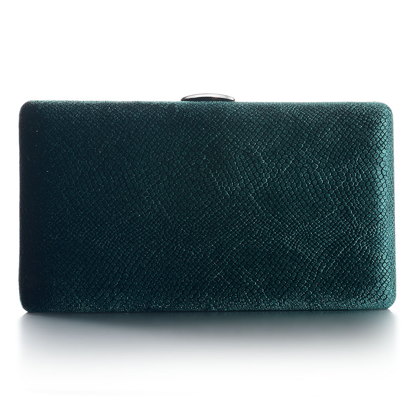 Dark Green Velvet Hard Case Box Clutch Evening Bags and Clutch Purses Handbags with Shoulder  Chain for Ball Party Prom fawziya evening bags kisslock purses hard case clutch evening party bags