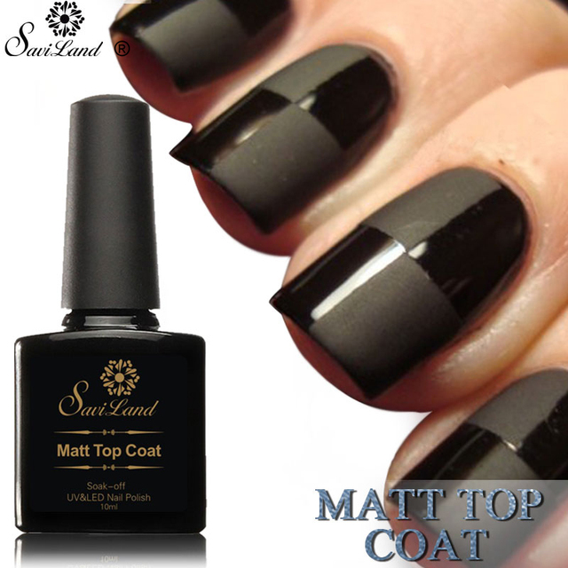 Saviland 10ml Matt Matte Top Coat Varnish UV Nail Gel Polish Soak Off Transparent Gel Lacquer for Make Up Nail Gel