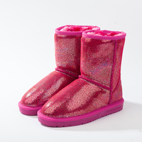 2016 Winter Children Boots Thick Warm Shoes Cotton Padded Buckle Boys Girls Boots Boys Snow Boots