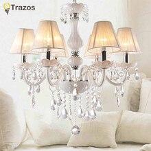 Nueva Moderna K9 lámpara de cristal candelabros de cristal Blanco para el Dormitorio Salón interior chandelier lustres de teto