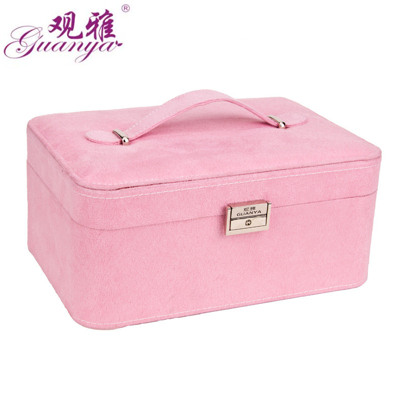 GUANYA new High grade fashion women jewelry box jewelry carring case 4 color for you choose love gift choice