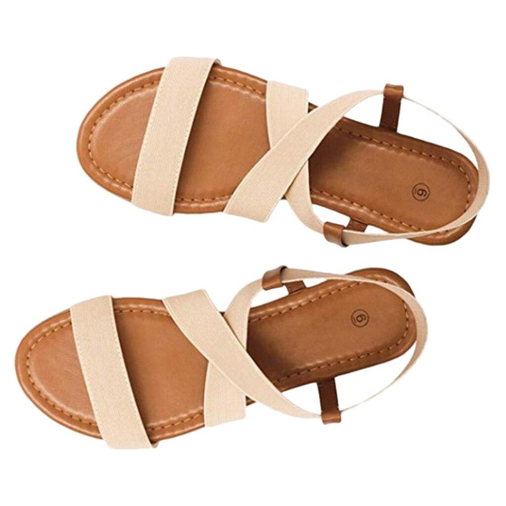HTB1aEE9aifrK1RjSspbq6A4pFXa6 2019 Women's Sandals Spring Summer Ladies Shoes Low Heel Anti Skidding Beach Shoes Peep-toe Fashion Casual Walking sandalias