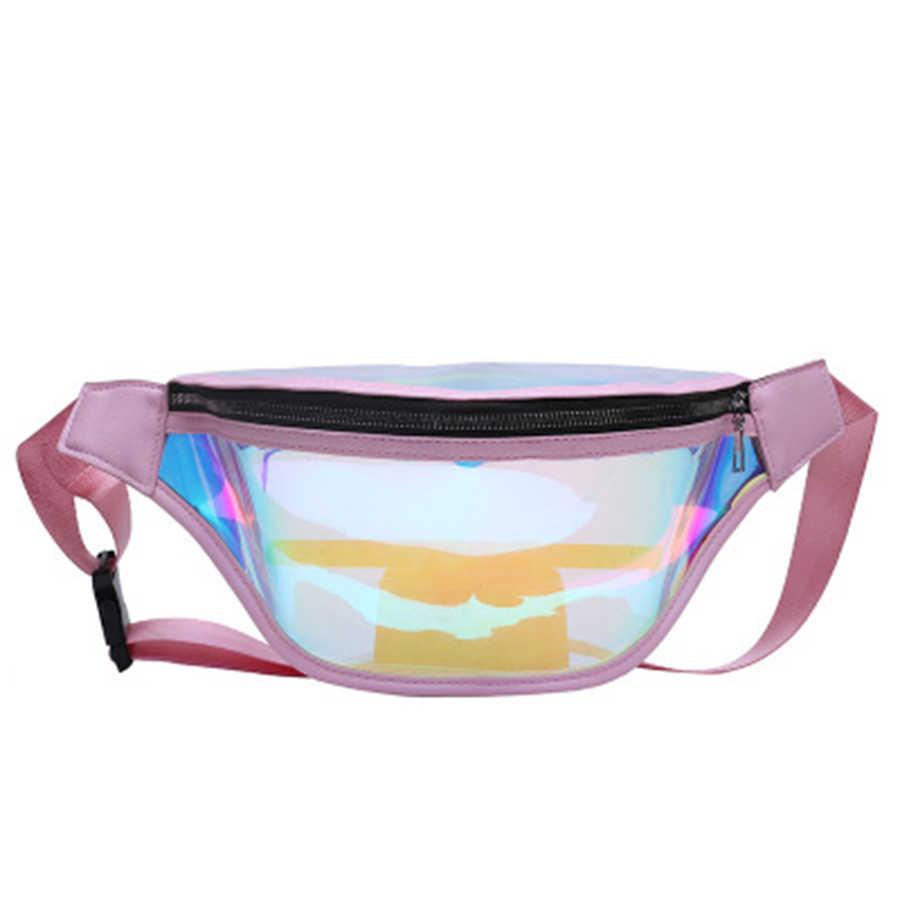 Laser de moda Pvc Transparente Sacos de Peito Para O Sexo Feminino Alta Qualidade do Metal Zipper Saco Crossbody Feminino À Prova D' Água Esportes Saco de Homem Novo