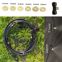 18M Black Outdoor Misting Cooling System Kit for Garden Patio Watering Irrigation Fog Mist sprayer with nozzles