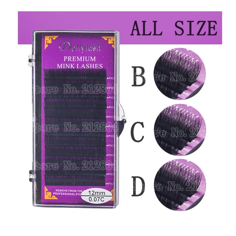 2018 Hot All Size B C D Curl Individual Mink Eyelash Extension Soft Black Fake False Eye L