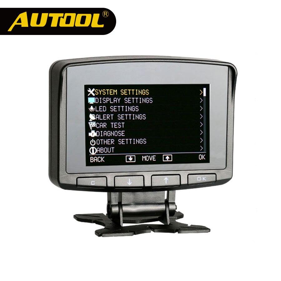 AUTOOL X50 PRO OBD II HUD Head Up Display Numérique Automatique De L'ordinateur de Voiture ECU Film Jauge Compteur de Vitesse Électronique Moniteur diagnostic Outil