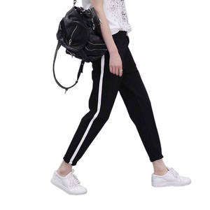 AOWOFS Sweatpants Trousers For Women Black Striped Female