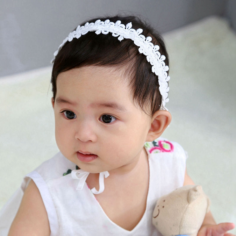 Hannah Baby Lace Christening Headband pink Lace Flower Baptism Wedding Headband Newborn Christening Headband Photoprop