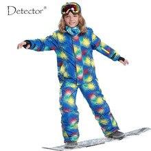 O Envio gratuito de Crianças Conjunto de Roupas de Inverno Ao Ar Livre À Prova de Vento Jaquetas De Esqui + calças Crianças Conjuntos de Neve Terno de Esqui Quente Para Os Meninos meninas