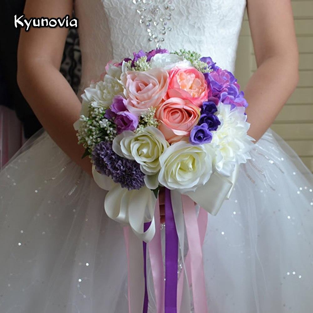 Romantic Wedding Bouquet mixed colors Brooch bouquet wedding ...