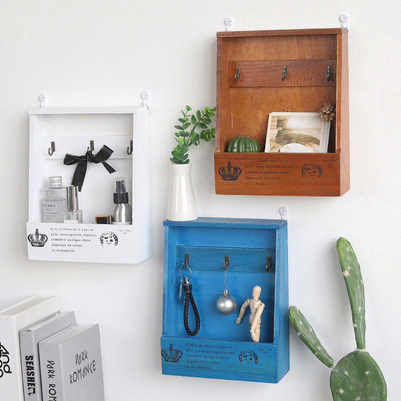 Vintage Past Small House Wall Shelf