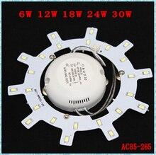 12W 18W 24W LED PANEL Circle Light SMD 5730SMD AC85-265V LED Ceiling light board + driver + Magnetic