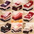 Рождественские Носки Новая Мода Носки Женщины 10 Пар Конфеты Цвета Более Стили Зима Утолщение Шерсть Высокое Качество Повседневная Для Девочек