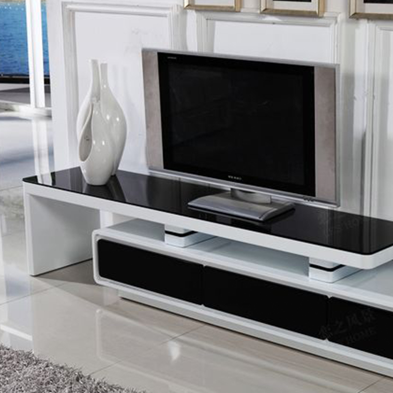 TV Cabinet Modern Minimalist Small Apartment Living Room Paint Glass  Retractable TV Cabinet To Cabinet Special Offer Free Shippi In Bar Tables  From ...