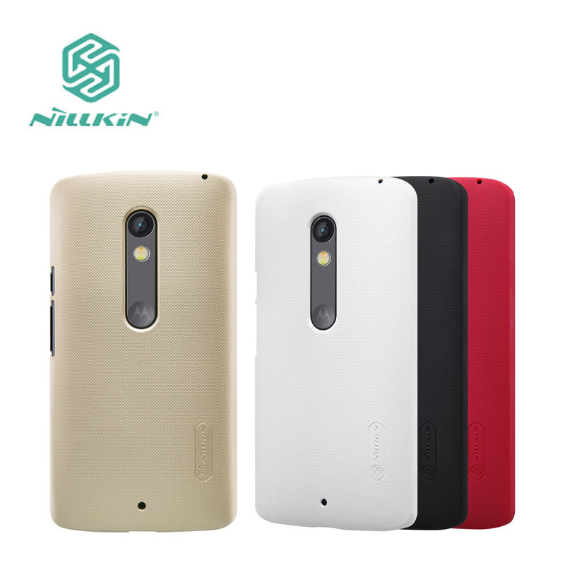 sFor MOTO X Play Case Nillkin Frosted Shield Case For Motorola MOTO X Play XT1561 XT1562 5.5 Phone Case With Screen Protector