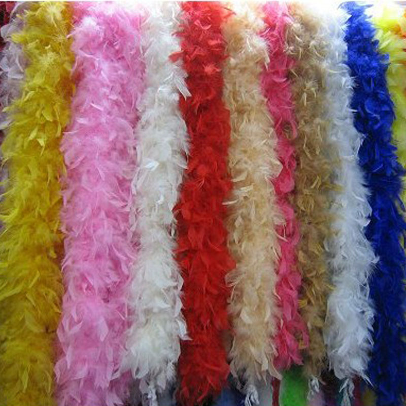 2018 Colorful 2M Long Fluffy Feather Boa Feathers Stirp Costumes Accessories Wedding Party Dress Decoration Christmas New Year