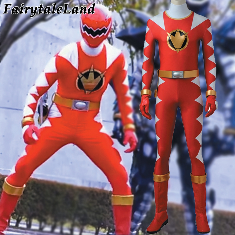 Tyranno Power Red Dino Ranger cosplay costume Carnival Halloween costumes Dino Thunder Red Ranger jumpsuit cosplay