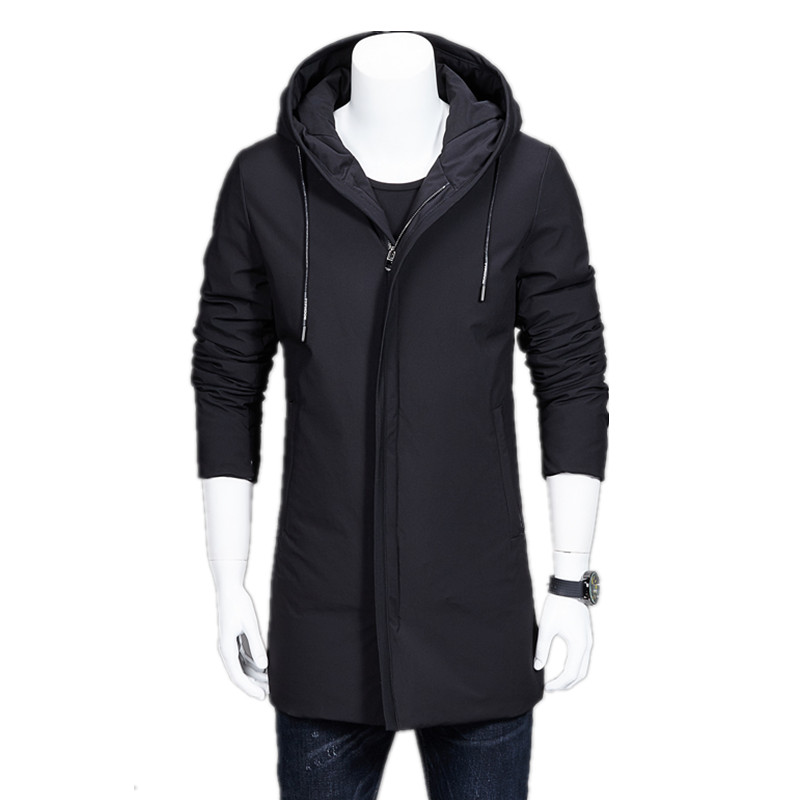 2017 winter arrival new style Men's casual fashion thick cotton-padded clothes jacket man's trench coat hooded Free shipping