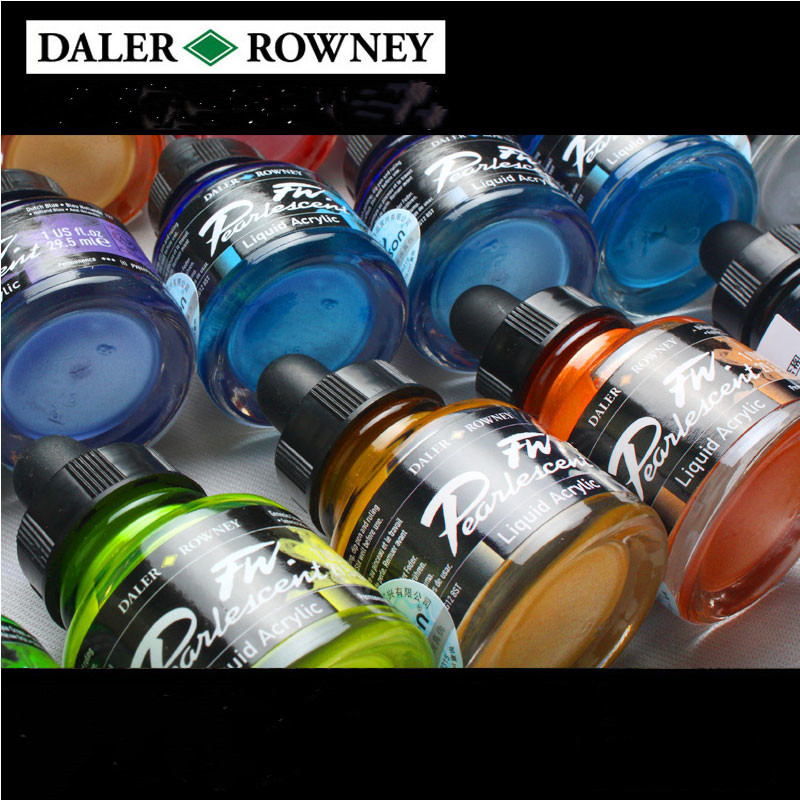 Import DALER ROWNEY Pearl Color  FW Artists' Acrylic Ink Pigment  Fluid  Paint