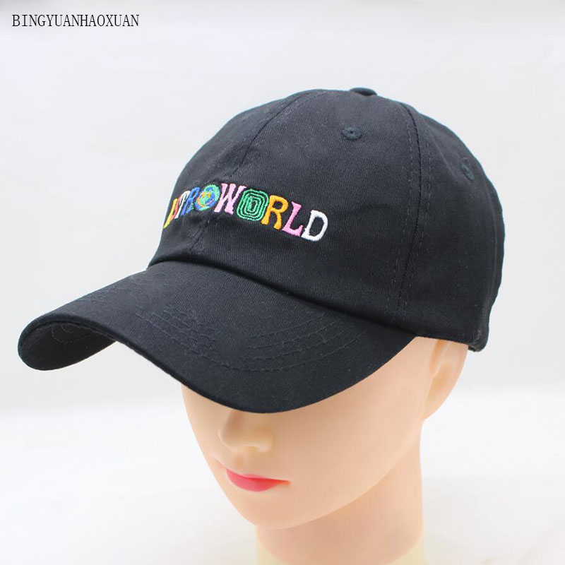 31abd7c3b6c BINGYUANHAOXUAN 2018 New Letter ASTROWORLD Dad Hat 100% Cotton High Quality  Embroidery Astroworld Baseball Caps Unisex -in Baseball Caps from Men s  Clothing ...