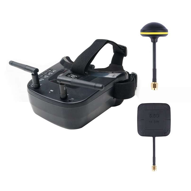 Mini FPV Goggles With Mushroom Antenna Panel Antenna 3 inch 480 x 320 Display Double Antenna 5.8G 40CH Built in 3.7V for Racing
