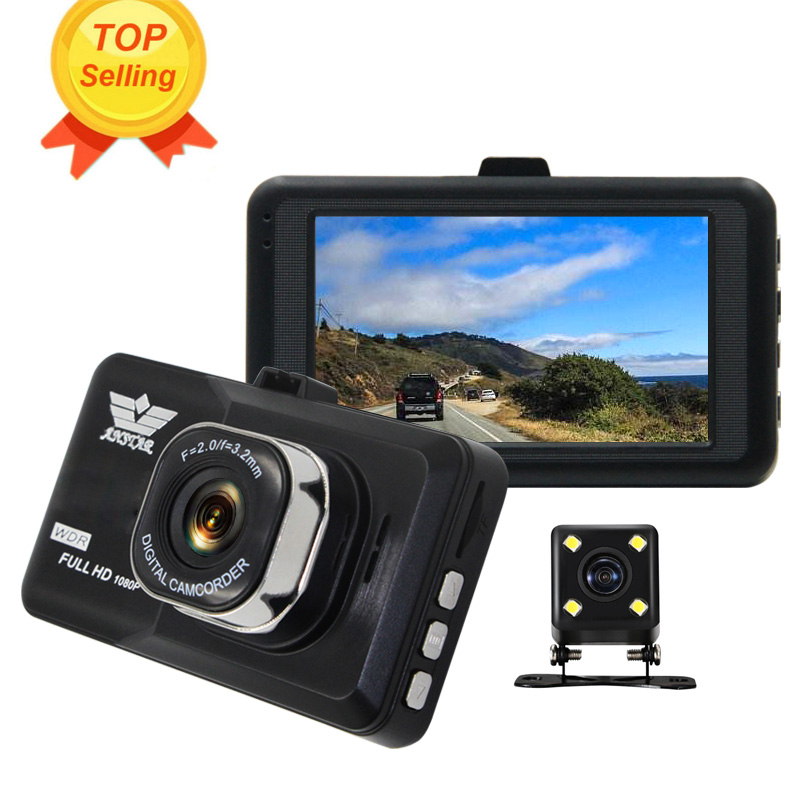 ANSTAR HD 1080p 3' Car Dvr Camera Dual Lens Video Recorder CAR Camera Dash Cam Automobile DVRs Blackbox Dashcam Vehicle Monitor цена