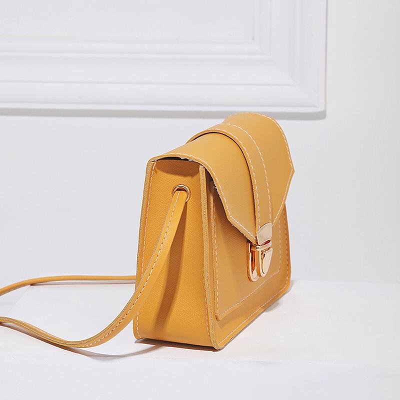 Fashion Small Crossbody Bags for Women 2019 Mini PU Leather Shoulder Messenger Bag for Girl Yellow Bolsas Ladies Phone Purse 6
