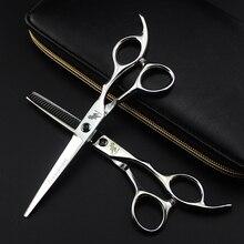Профессиональные 6 дюймовые ножницы для стрижки волос, парикмахерские ножницы, прямые филировочные ножницы, парикмахерские принадлежности, набор салонных инструментов