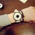 Louise 2016 Nuevo Estilo relojesNEW WatchFashion Amantes Hombres Mujeres Banda de Cuero de Cuarzo Analógico Reloj de pulsera de Reloj de Pulsera Mujer